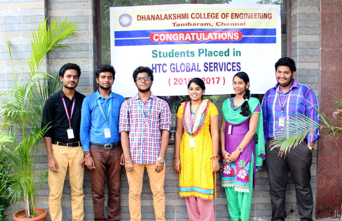 HTC Global Services saw six of our Students being Placed in the Campus Drive conducted by the Company,
